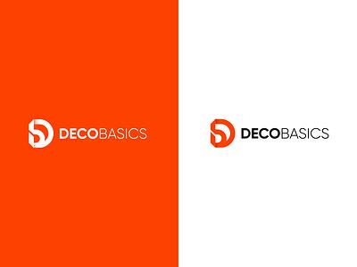 Deco basics letters b logo d logo card icon business logos branding brand logo vector illistration design