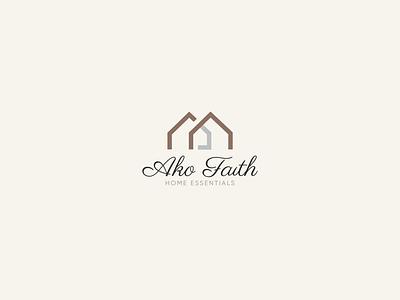AKO Faith retail logo retail enssential home home home logo logos branding brand logo vector illistration design