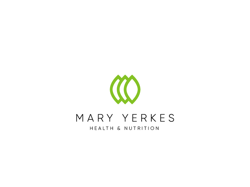 mary yerkes logo leaves healt branding vector illustration draw logo design