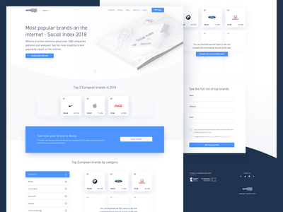 Social Index 2018 - Landing Page