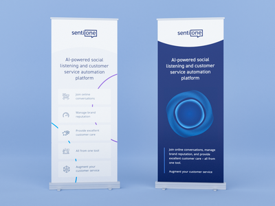Roll-up Banners branding vector social saas printing print design it circle abstract banner poster blue ai mockup 3d blender rollup event