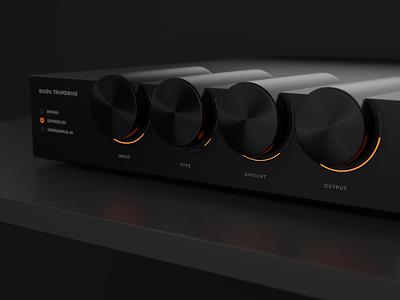 TrapDrive 3d 808 effect bass drive blender dark gui plugin interface music orange ui vst minimalist modern circle knob black