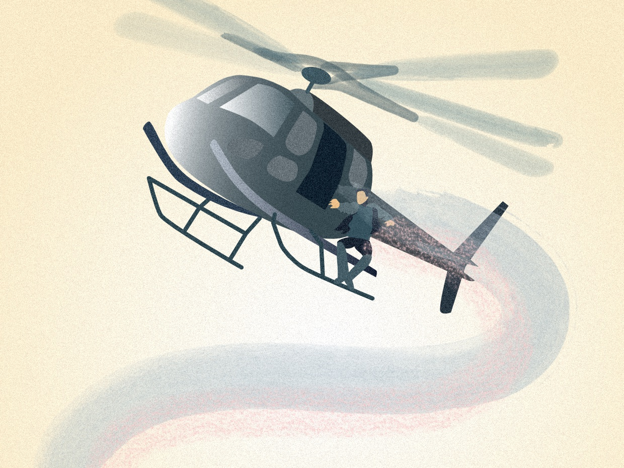 Mission impossible helicopters affinity designer design graphic artist vector illustration