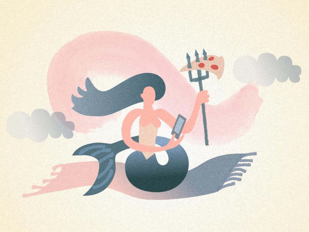 Mermaid flat characterdesign design character affinity designer graphic artist vector illustration