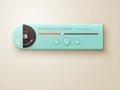 PS  PLAYER player green cyan black glue disc the jukebox shadow button progress bar
