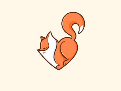 Fox white orange fox