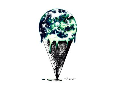 Die Erde earth world analogue graphic art design art sketching sketch painting lisastarke illustrator illustration goethe faust drawing draw design atheist atheism