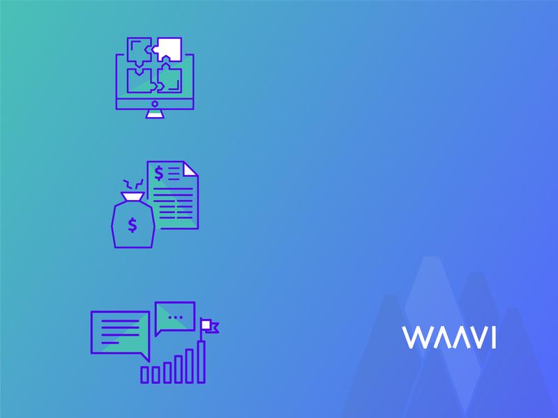 WAAVI Roadmap roadmap icon iconset services web developement web development mobile app development apps product consulting ux  ui