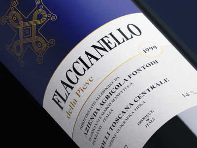 Wine label restyling Flaccianello della Pieve Fontodi
