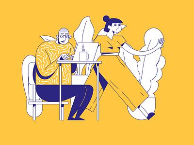 ILLUSTRATION study artwork line art yellow colorful visual art visual design design illustration