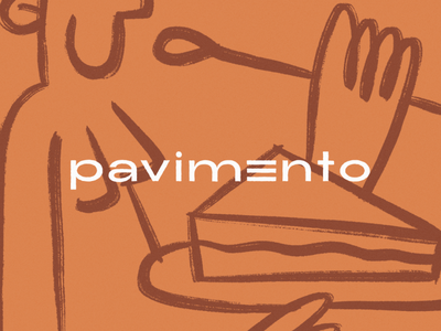 Pavimento logotype branding and identity branding concept branding design food lettering logo design logo branding visual design graphic brand brand designer designer brazil graphicdesign design illustration design illustration