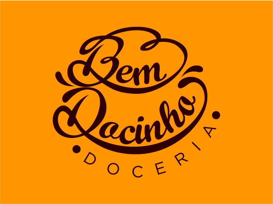 Bem Docinho candy bakery logo logo graphic design