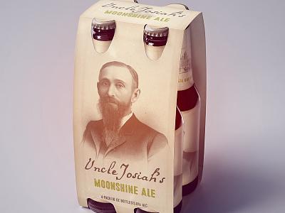 Uncle Josiah's mockup beer ephemera vintage branding