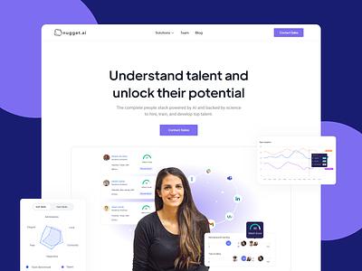 nugget.ai Landing Page digital design graphic design ux nugget.ai website landingpage ui illustration design