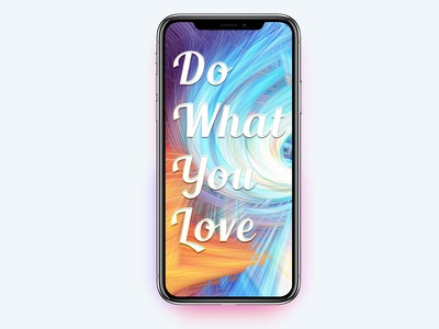 Iphone X Case - Do What You Love fun playing design