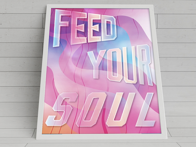 Feed Your Soul invites background colors fun play design illustration