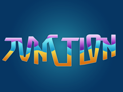 Junction abstract words letters colors fun play design illustration