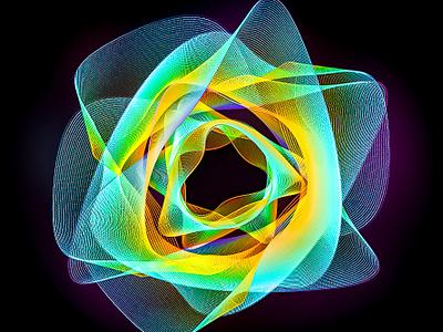 Time Folding Dimensions illustration adobe designer digital art abstract colors illustrator