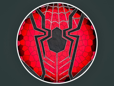 Spider spider-man spider man contracts colors shapes design art concept art icon illustration illustrator