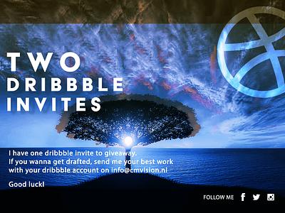 Two dribbble invite uidesign uxdesigner ux ui visual design visual art designs design invitation invites