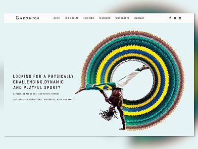Capoeira hero ui  ux uiux colors interface uidesign ui