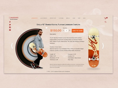 Longboard Site Concept product colors play fun ux website ui design concept