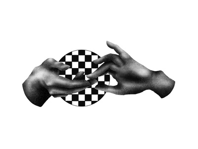 Hold your hand pattern noise shadow handdraw hands blackandwhite illustrator texture photoshop illustration brushes