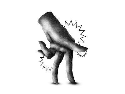 Hand man blackandwhite hand illustrator texture photoshop illustration brushes
