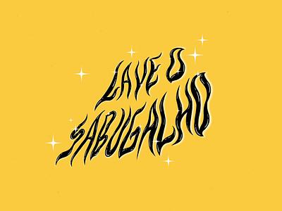 LAVE O SABUGALHO - Typography font design handmadetype handmade stars awareness campaing typogaphy illustrator photoshop brushes texture