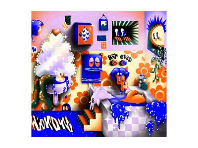 Bathroom bathroom patterns illustrator colorful photoshop brushes texture illustration