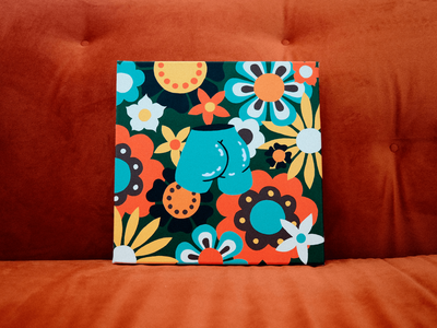 BLOSSOM painter posca acrylic paint butt vintage booty colorful blossom flowers patterns painting illustration