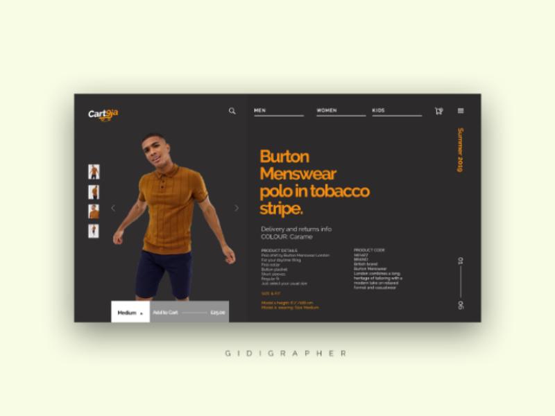 UI Landing Page design for Cart9ja user interface design website