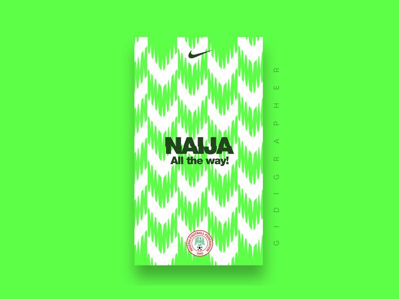 Nigeria Super Eagles  Wallpaper (Green) vector logo illustrator typography wallpaper design identity wallpaper