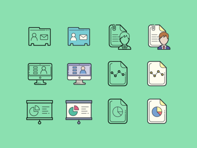 Hand drawn icons: Business