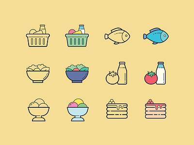 Hand drawn icons: Food coronavirus food icon ux ui digital art vector icons8 graphic design design icons