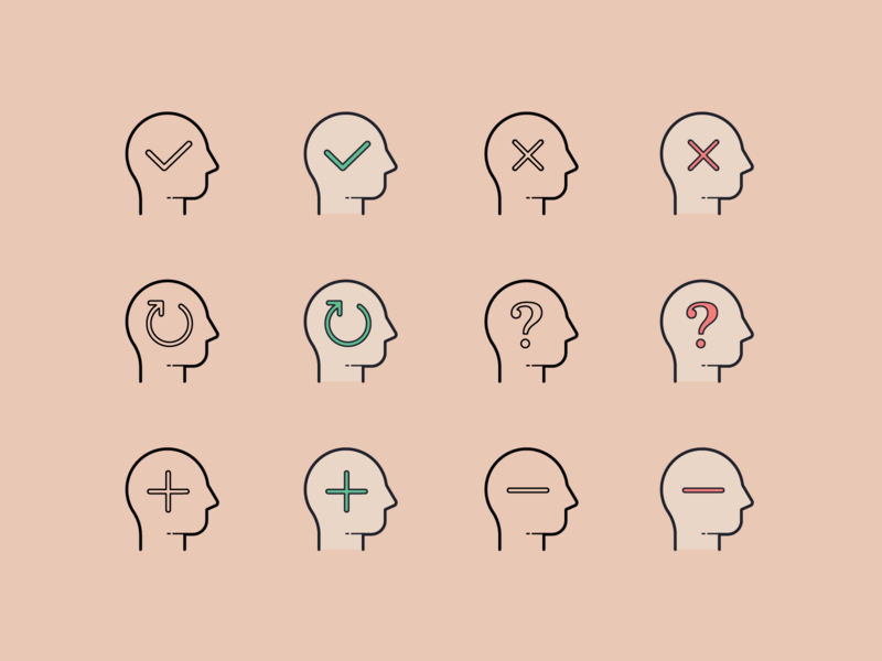 Hand drawn icons: Business Decisions human decisions icon ux ui digital art vector icons8 graphic design design icons