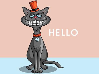 Hello Cat procreate smiling cat cat illustration sticker illustration