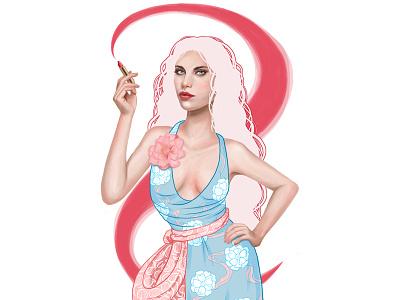 Fashion Illustration Lipstick Swirl beauty design lipstick fashion illustration photoshop beauty illustration illustration