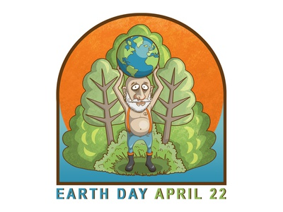 Earth Day climate logo design earth day illustration climate design climate change environmental environment graphics earth day logo design illustration