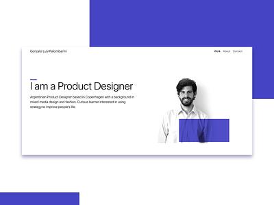 Portfolio cover color design web design