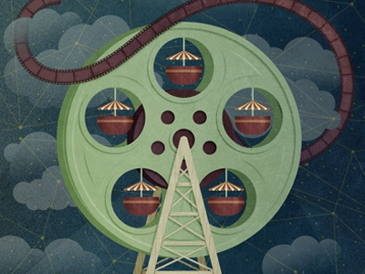 Curtocircuito poster short film film festival big wheel film reel