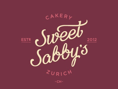 Sweet Sabbys Logo logo branding lettering cakery pattiserie custom type