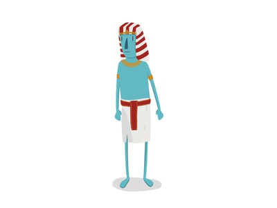 That head piece though pharaoh egypt ancient man character design vector illustration