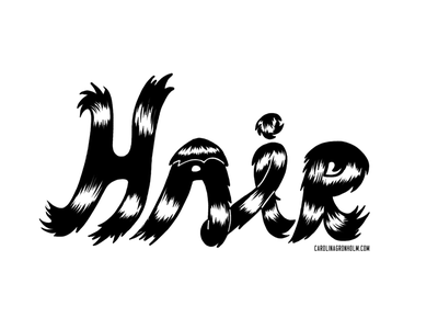 Hair curvy drawing wacom typography hand lettering lettering hair