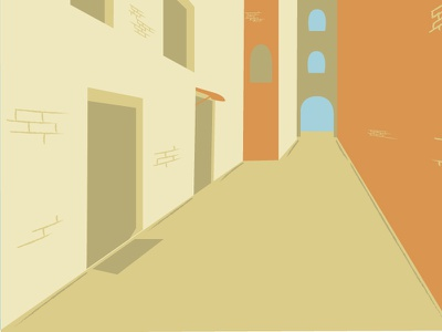 Background houses design concept illustration town desert scenery house vector background