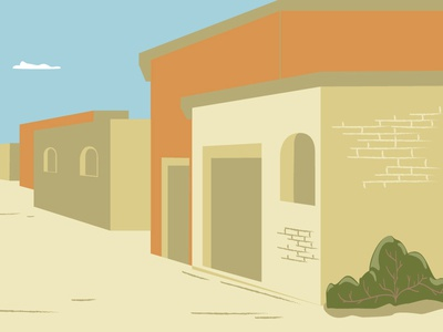 Background houses illustration vector scenery houses town concept background
