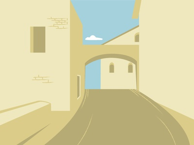 Background houses illustrator vector town houses scenery background concept illustration