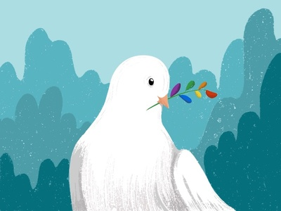 Pride dove procreate ipad illustration stockholm freedom peace love pride dove