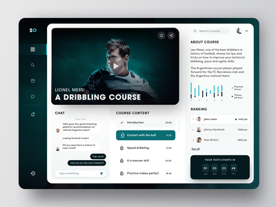 Course Learning Dashboard online platform education dashboard web design education website online teaching web sport learning platform online learning green modern interface design ui