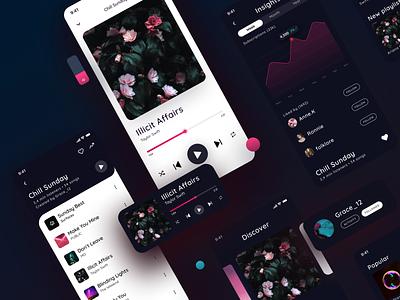 Music app concept design design app mobile app player mobile app design app ui ux music app